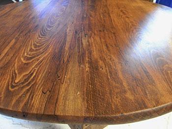 テーブルの手塗り塗装